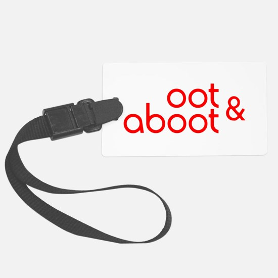 Oot & Aboot (red) Luggage Tag