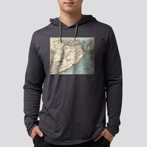 Vintage Map of Staten Island NY Mens Hooded Shirt