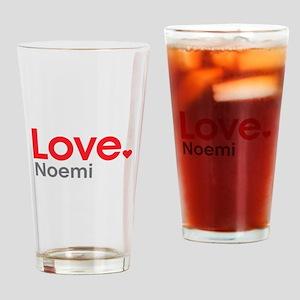 Love Noemi Drinking Glass