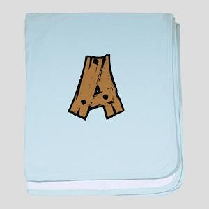 Drift Wood Monogram A baby blanket