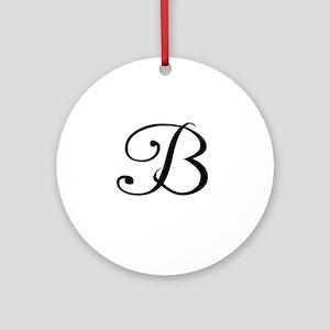 A Yummy Apology Monogram B Ornament (Round)