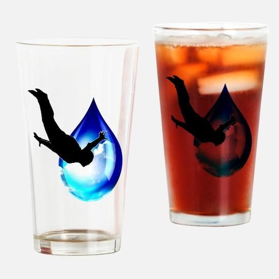 Sky Drop Drinking Glass