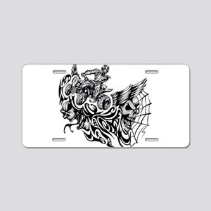 Quad Blazed Wickedness Aluminum License Plate