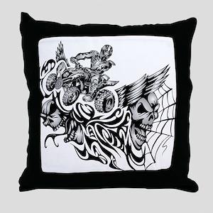 Quad Blazed Wickedness Throw Pillow