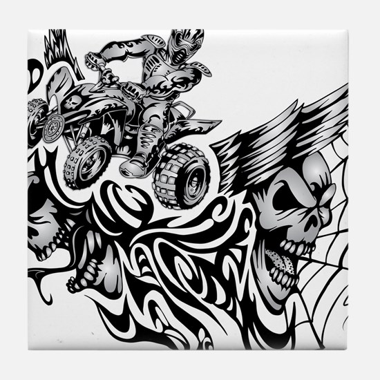 Quad Blazed Wickedness Tile Coaster