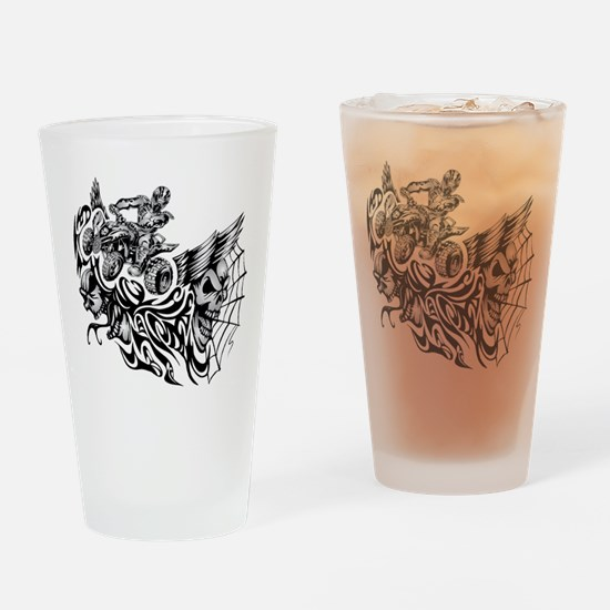 Quad Blazed Wickedness Drinking Glass