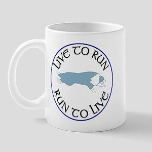 Blue BC Run To Live Logo Mug