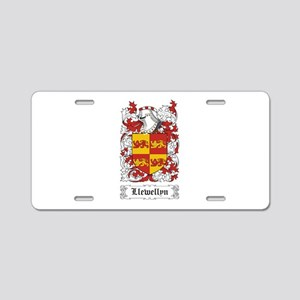 Llewellyn Aluminum License Plate