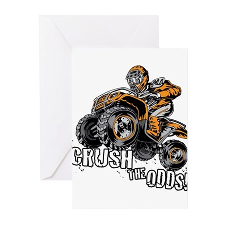 Crush The Odds Quad Greeting Cards (Pk of 10)