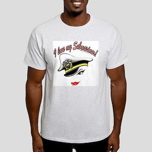 """I Love My Submariner"" Image Ash Grey T-Shirt"