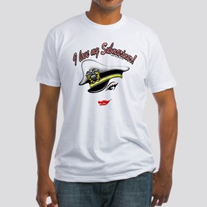 """""""I Love My Submariner"""" Image Fitted T-Shirt"""
