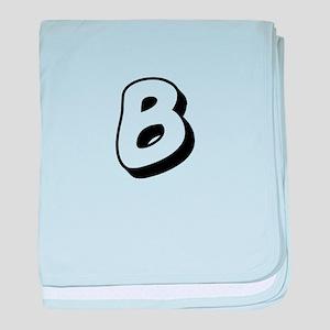 Action Man Monogram B baby blanket
