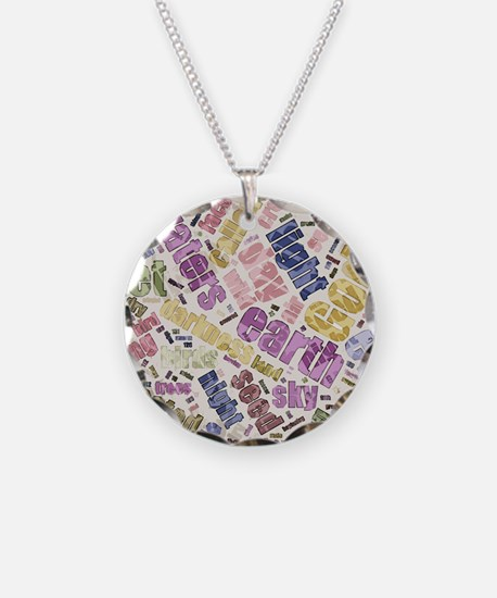 Genesis Chapter 1 Word Cloud Necklace