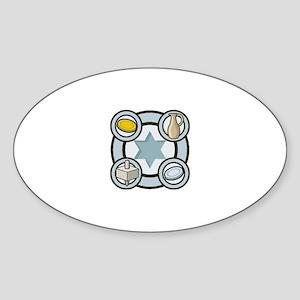 CHANUKKAH Oval Sticker