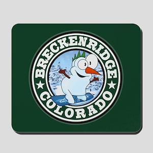 Breckenridge Snowman Circle Mousepad