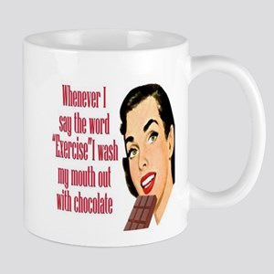 Wash My Mouth Out with Chocolate Mug (white)