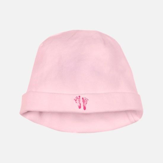Baby Girl Footprints baby hat