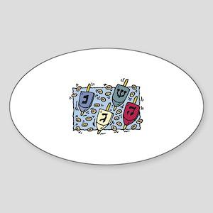 DREIDELS Oval Sticker