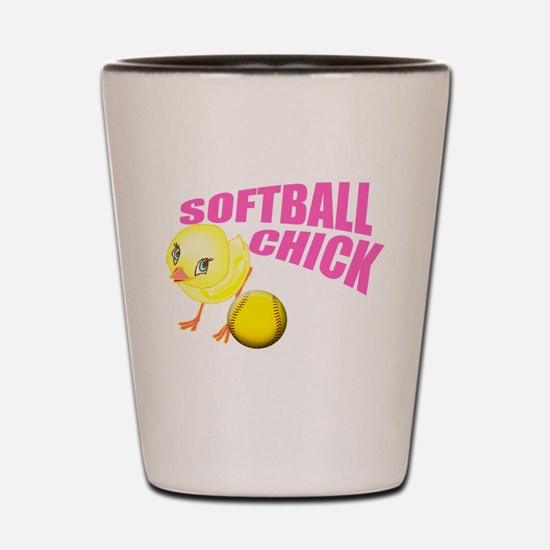 SoftballChick copy Shot Glass