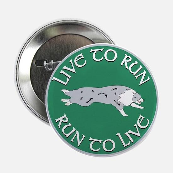 Blue Merle BC Live To Run Logo Button