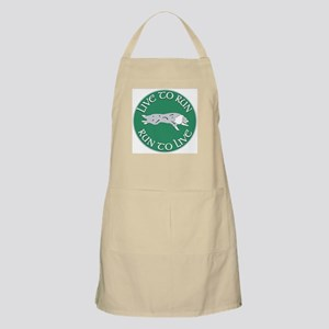 Blue Merle BC Live To Run Logo Grooming Apron