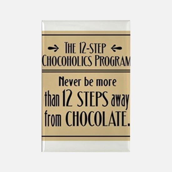 12-Step Chocolate Program Rectangle Magnet