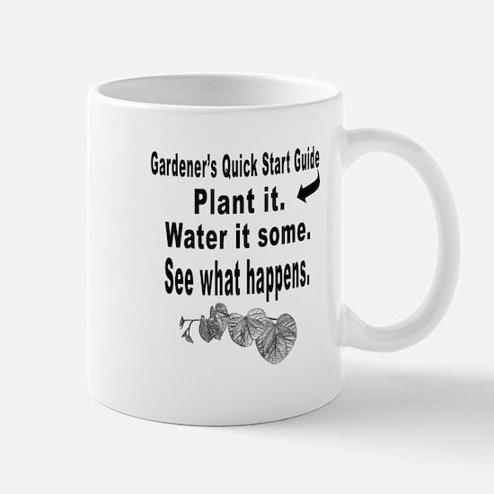 Gardening quick start guide Mug