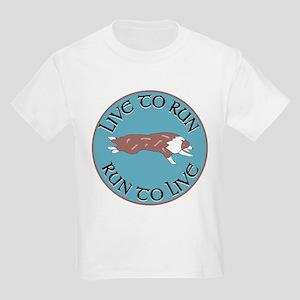 Red Merle BC Live To Run Logo Kids T-Shirt