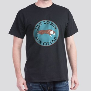 Red Merle BC Live To Run Logo Dark T-Shirt