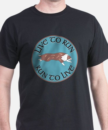 Red Merle BC Live To Run Logo T-Shirt