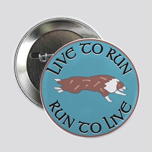 Red Merle BC Live To Run Logo Button