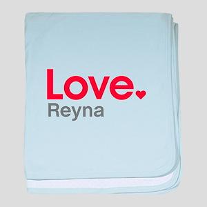 Love Reyna baby blanket