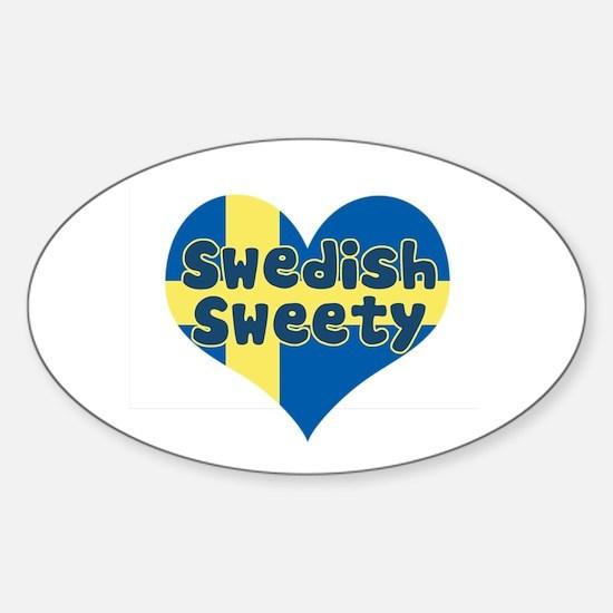 Swedish Sweety Oval Decal