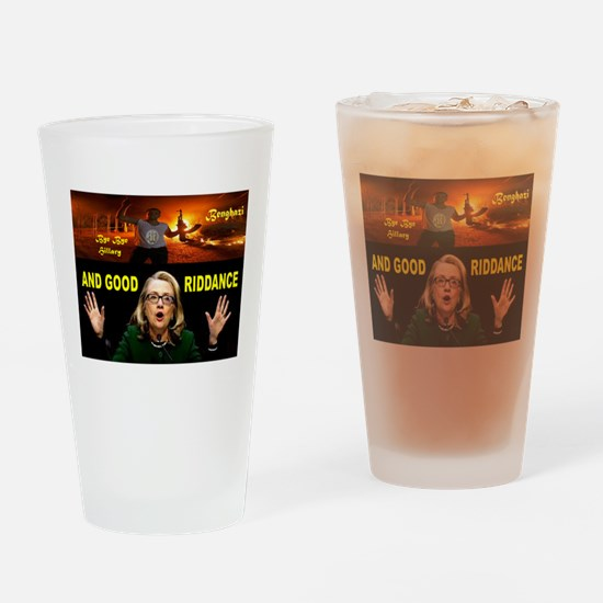 GOOD RIDDANCE Drinking Glass