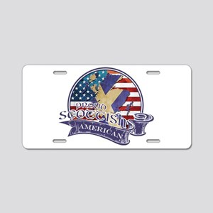 Proud Scottish American Aluminum License Plate