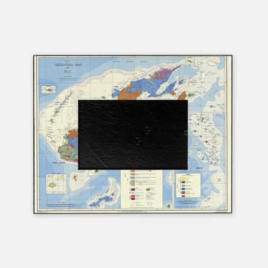 Fiji Map Picture Frame