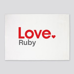 Love Ruby 5'x7'Area Rug