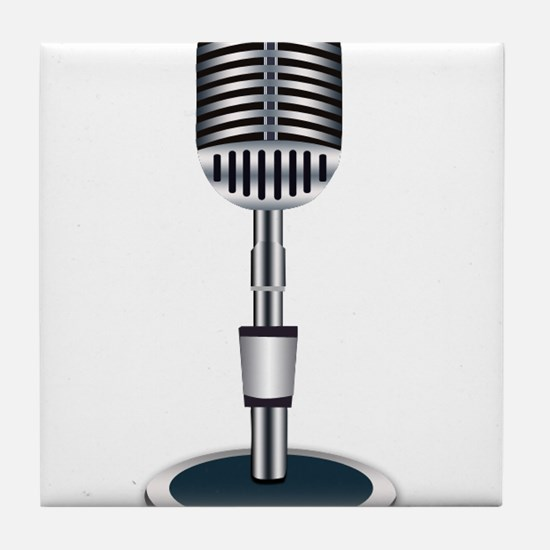 Microphone Tile Coaster