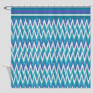 purple and turquoise shower curtain. IKat ZigZag Purple Turquoise Shower Curtain And Curtains  CafePress