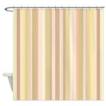 Yellow Stripes Shower Curtain