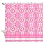 Pink Decor Shower Curtain