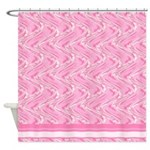 Pink Waves Shower Curtain