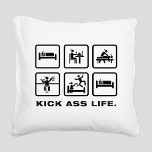 Massage Square Canvas Pillow