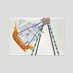 Amusement Park Ride Rectangle Magnet