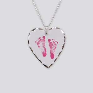 Baby Girl Footprints Necklace