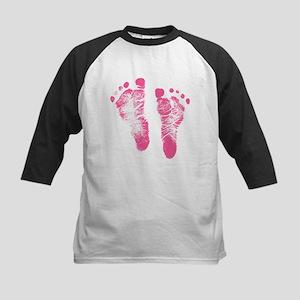 Baby Girl Footprints Baseball Jersey