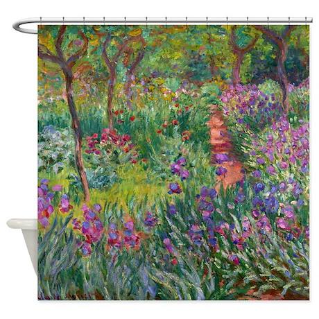 Giverny Iris Garden Shower Curtain