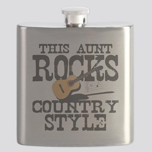 Aunt Rocks Country Flask