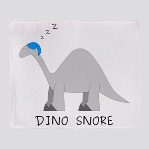 Dino Snore Throw Blanket