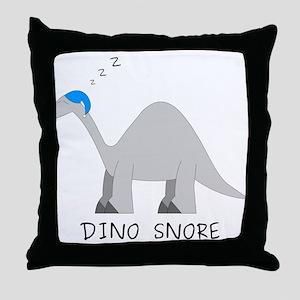 Dino Snore Throw Pillow